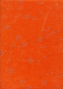 Embroidered Cotton Needlecord - Orange