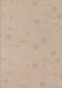 Embroidered Cotton Needlecord - Beige