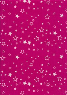 Cotton Needlecord - Stars on Pink