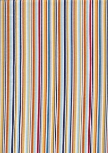 Novelty Fabric - Multi Coloured Stripe Construction Blender