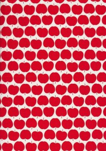 Novelty Fabric - Apples On White