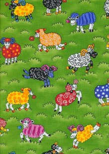Novelty Fabric - Psychodelic Sheep And Rams