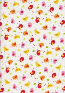 Novelty Fabric - Chicks On Cream