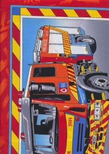 Novelty Fabric - Fire And Rescue Panel