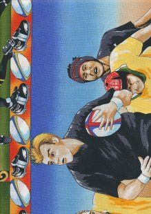 Novelty Fabric - Rugby Players And Balls Panel