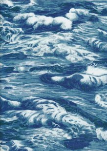 Novelty Fabric - Blue Waves