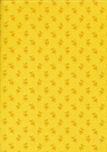 Andover Fabrics Over The Rainbow By Kathy Hall - Floral Sprig Yellow