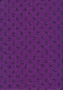 Andover Fabrics Over The Rainbow By Kathy Hall - Floral Sprig Purple