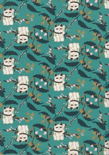 Paintbrush Studio - Imperial Garden Lucky Cat Teal 20242