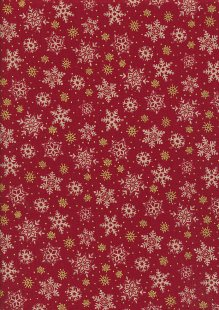 Paintbrush Studio - Season's Greetings Snowflakes Red