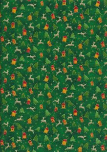 Paintbrush Studio - Season's Greetings Reindeer & Christmas Trees Green