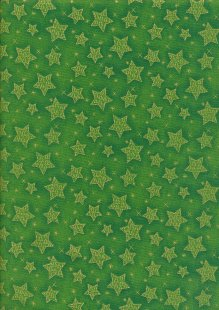 Paintbrush Studio - Season's Greetings Stars Green
