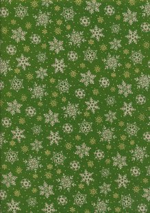 Paintbrush Studio - Season's Greetings Snowflakes Green