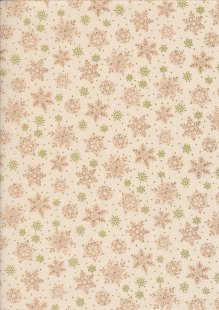 Paintbrush Studio - Season's Greetings Pink Snowflakes Cream
