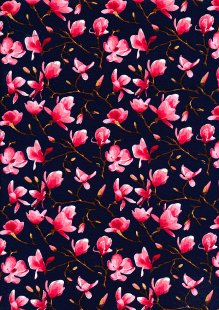 Rose & Hubble Magnolia Bloom - Navy CP0477 Col 03