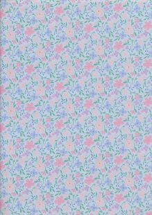 Fabric Freedom - Quality Cotton Print CTS602-1-2 Floral