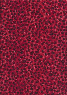Rose & Hubble - Quality Cotton Print CP-0880 Red Leopard Skin