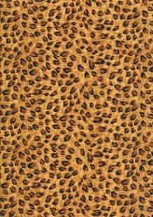 Rose & Hubble - Quality Cotton Print CP-0880 Tan Leopard Skin