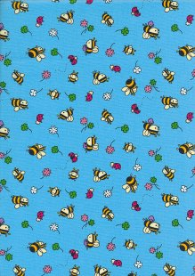 Rose & Hubble - Quality Cotton Print CP-0881 Blue Bees