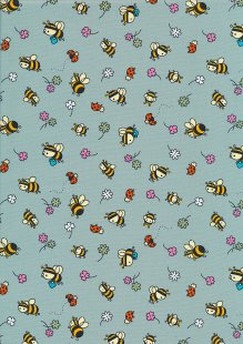 Rose & Hubble - Quality Cotton Print CP-0881 Green Bees