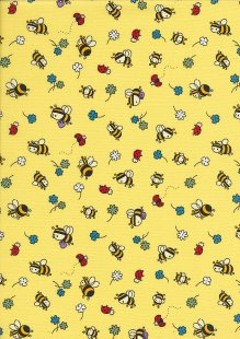 Rose & Hubble - Quality Cotton Print CP-0881 Yellow Bees