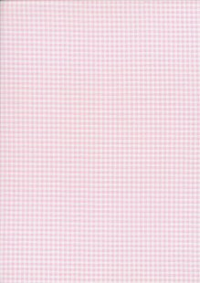 Fabric Freedom - Quality Cotton Print Check FF-5633 Baby Pink/White