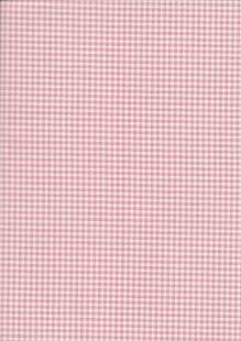Fabric Freedom - Quality Cotton Print Check FF-5633 Salmon/White