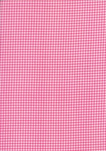 Fabric Freedom - Quality Cotton Print Check FF-5633 Pink/White