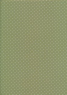 Fabric Freedom - Quality Cotton Print Spot FF-6390 Olive/White