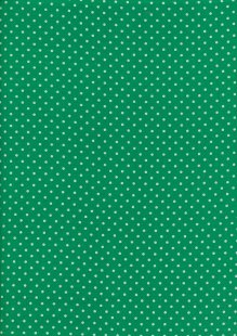 Fabric Freedom - Quality Cotton Print Spot FF-6390 Green/White