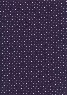 Fabric Freedom - Quality Cotton Print Spot FF-6390 Purple/White