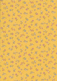 Rose & Hubble - Quality Cotton Print CP-0860 Yellow Floral