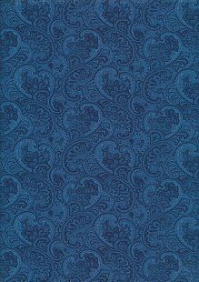 Rose & Hubble - Quality Cotton Print CP-0862 Blue Paisley Floral