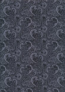 Rose & Hubble - Quality Cotton Print CP-0862 Black Paisley Floral