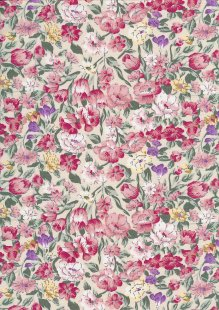 Rose & Hubble - Quality Cotton Print CP-0876 Ivory Floral