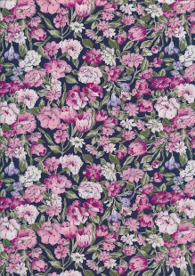 Rose & Hubble - Quality Cotton Print CP-0876 Navy Floral