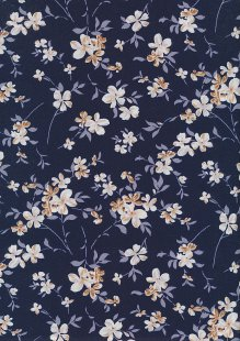 Rose & Hubble - Quality Cotton Print CP-0873 Navy Floral