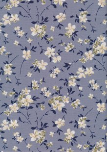 Rose & Hubble - Quality Cotton Print CP-0873 Grey Floral