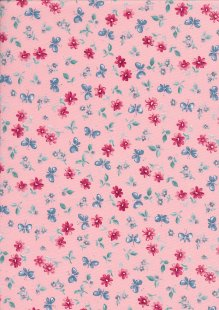 Rose & Hubble - Quality Cotton Print CP-0869 Pink Butterfly