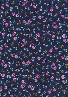 Rose & Hubble - Quality Cotton Print CP-0869 Navy Butterfly