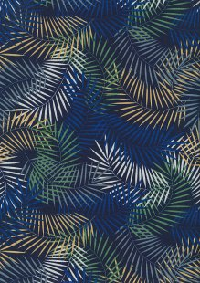 Rose & Hubble - Quality Cotton Print CP-0741 Navy/Royal Sprig
