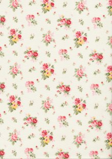 Rose & Hubble - Quality Cotton Print CP-0818 Ivory Floral