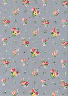 Rose & Hubble - Quality Cotton Print CP-0818 Grey Floral