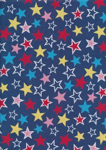 Rose & Hubble - Quality Cotton Print CP-0882 Denim Stars