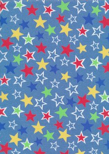 Rose & Hubble - Quality Cotton Print CP-0882 Chambray Stars