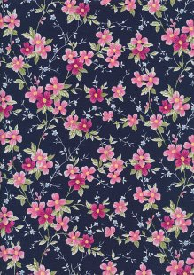 Rose & Hubble - Quality Cotton Print CP-0829 Navy Floral