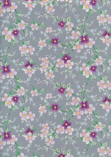 Rose & Hubble - Quality Cotton Print CP-0829 Grey Floral
