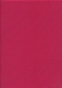 Quality Cotton Print - Red Micro Dots