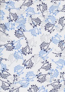 Quality Cotton Print - Navy Hyacinth