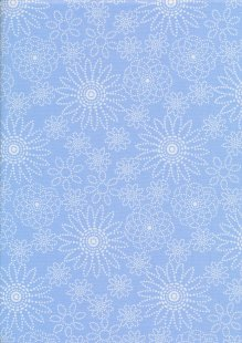 Quality Cotton Print - Blue Spiro